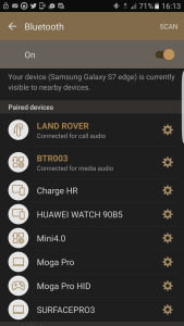 Android Bluetooth Screen