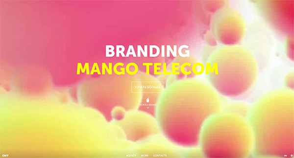 ONY AGENCY in 50 Creative Full Screen Video Background Websites