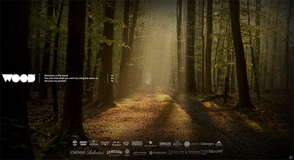 The Wood in 50 Creative Full Screen Video Background Websites