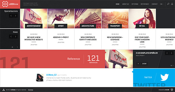 LEDbow in 28 Websites with Stunning Flat Design