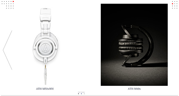 Audio-Technica in 45 Modern Minimal Websites