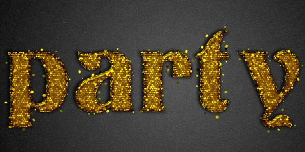 Learn to Create Party Text Effect in 40 Creative Photoshop Text Effect Tutorials