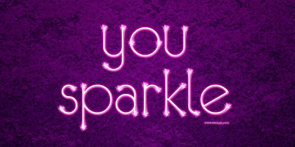 Sparkling Text Effect in 40 Creative Photoshop Text Effect Tutorials
