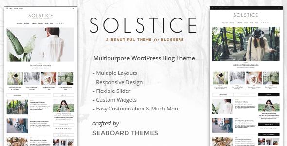 Solstice - Multipurpose Personal WordPress Blog & Magazine Theme