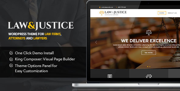 Law&Justice: Law Firm, Lawyers & Attorneys WordPress Theme