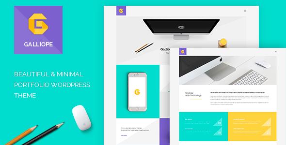 Galliope - Agency/Portfolio WordPress Theme