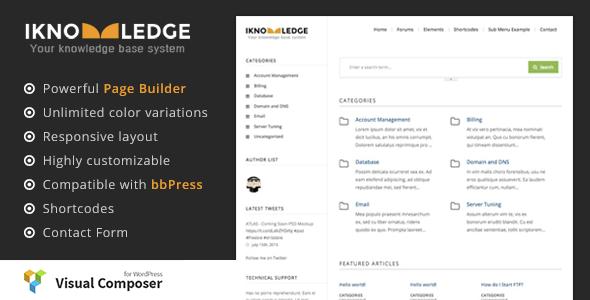 iKnowledge - Knowledge Base / Wiki WordPress Theme