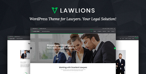 Law Lions - Lawyers Attorneys Business WordPress Theme