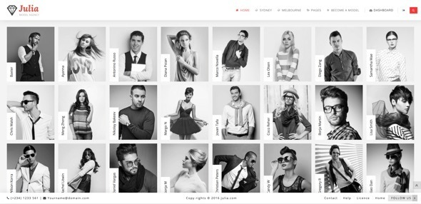 Julia - Talent Management WordPress Theme