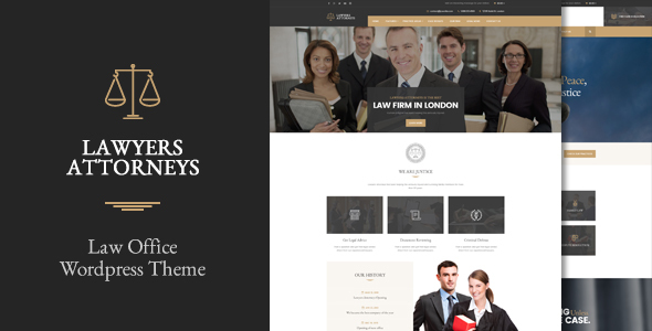 Lawyer Attorneys - A Law Office WordPress Theme