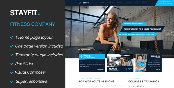 Stayfit | Sports, Health, Gym & Fitness WP Theme