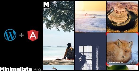 Minimalista Pro - AngularJS Web App Photography WordPress theme