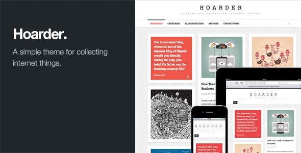 Hoarder: Responsive WordPress Blog Theme