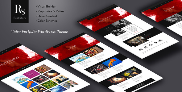 Reel Story - Video Portfolio WordPress Theme