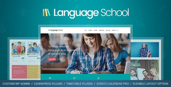 Language School - Courses & Learning Management System Education WordPress Theme