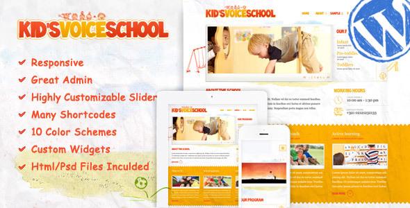 Kids Voice School - Responsive WordPress Theme