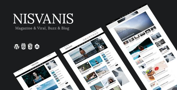 NISVANIS - 3 in 1 Magazine & Viral, Buzz & Blog Theme