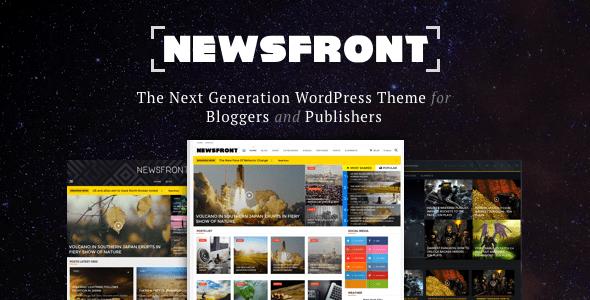 NewsFront: Blog, News & Editorial eCommerce WordPress Theme