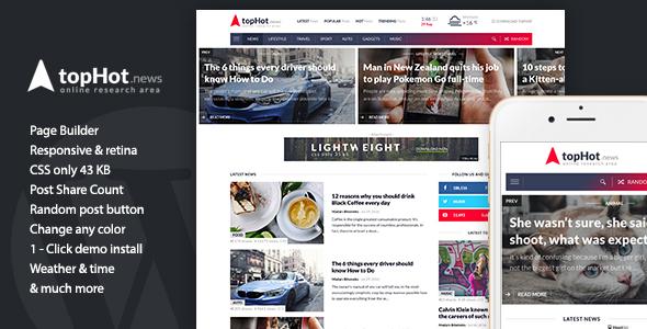 topHot - WordPress News / Magazine / Newspaper Theme