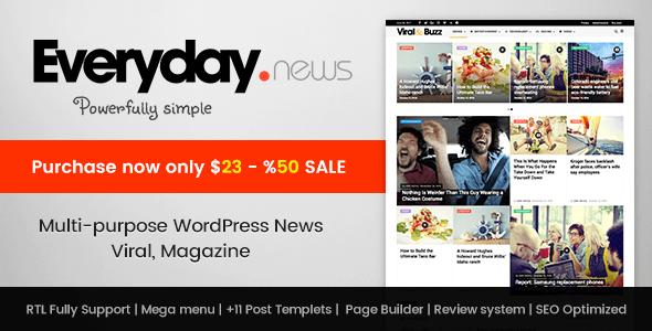 Everyday - Modish News, Magazine and Blog Theme