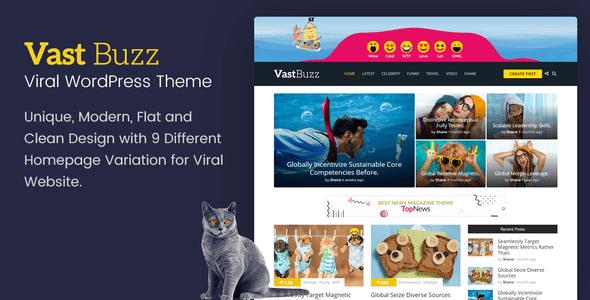 Vast Buzz - Viral & Buzz WordPress Theme