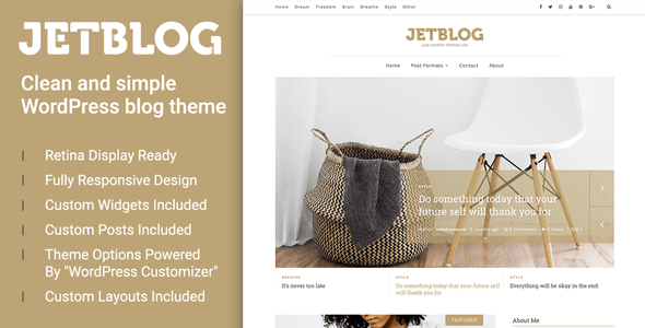 Jetblog - Clean & Simple WordPress Blog Theme
