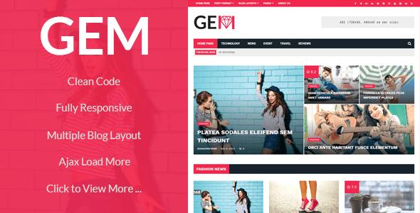 GEM - Viral, News, Magazine WordPress Theme