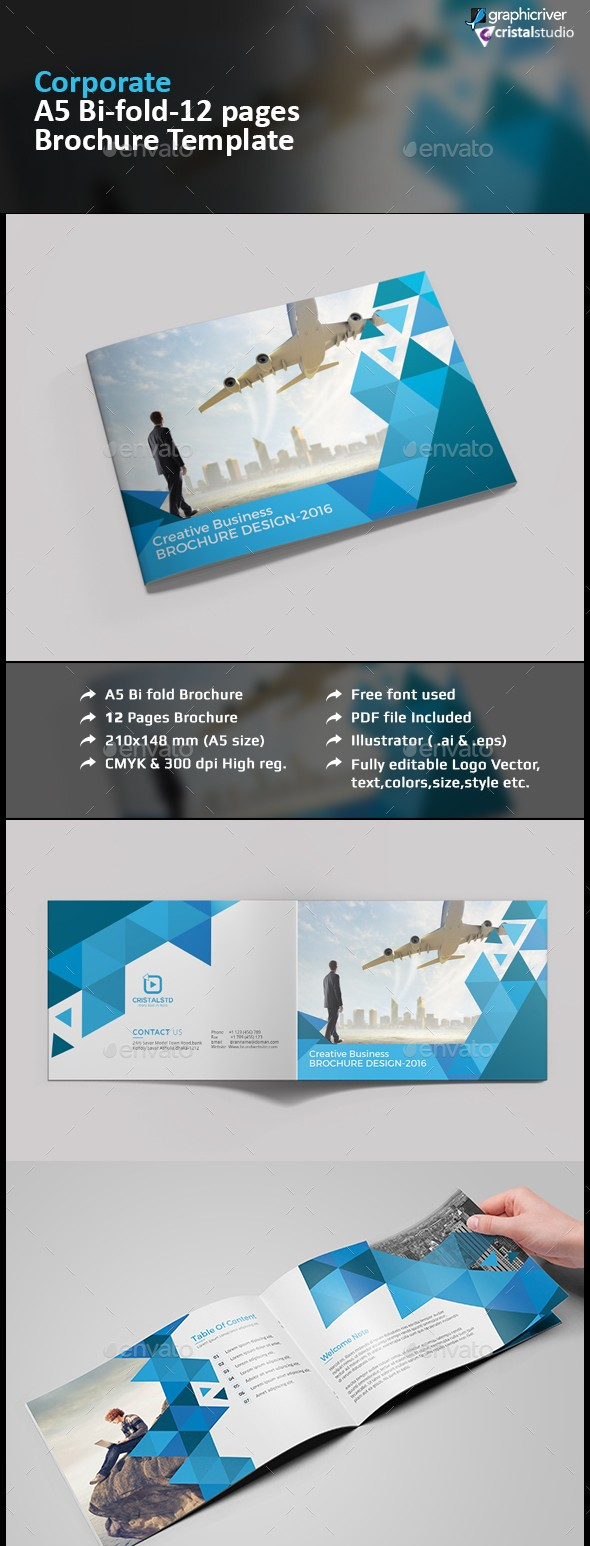 A5 Business Brochure Template