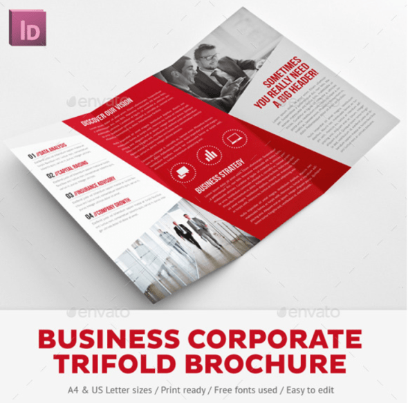 Business Corporate Tri-Fold Brochure