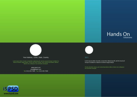 Hands on Brochure Template PSD