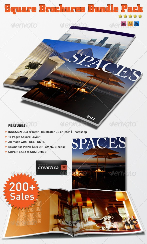 Square Brochures Bundle Pack