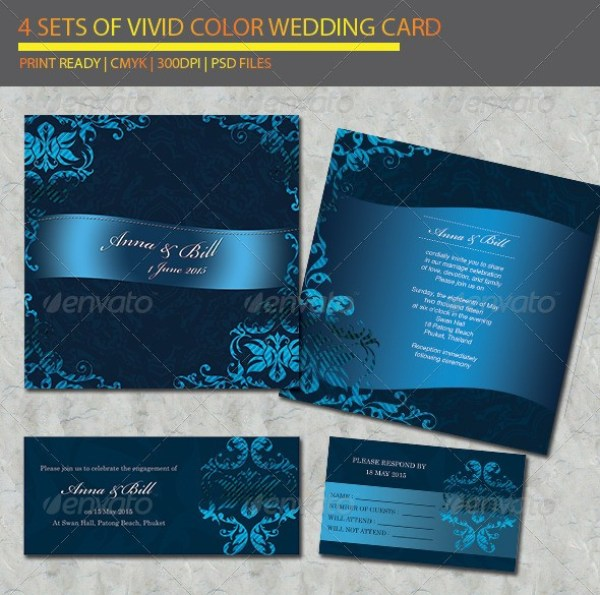 4 items Wedding Card