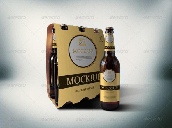 6 Pack Beer Mockup