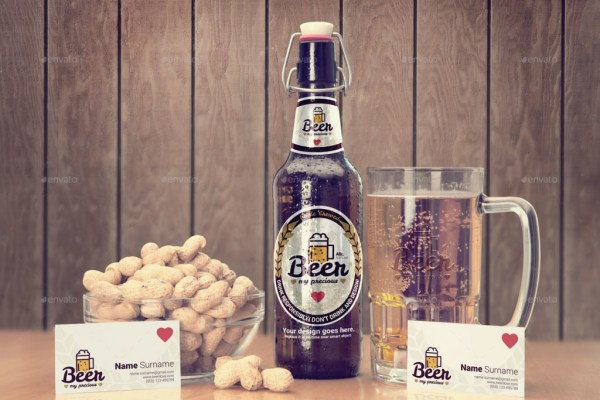 Beer Package & Branding Mockup - Retro Edition