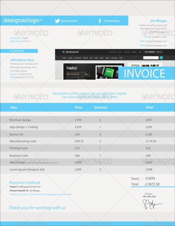 Clean Customizable Invoice Template