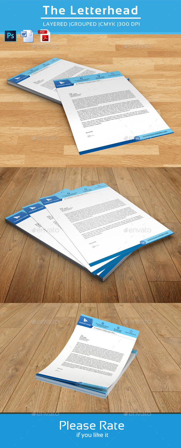 Clean Letterhead Template-V01