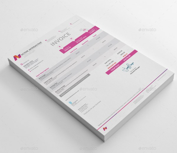 Creative Invoice Templates - 1