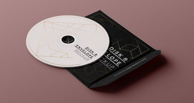 Free CD Sleeve and Disc Mockup