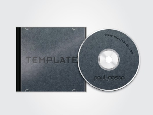 Free Vector CD and CD Case Mockup