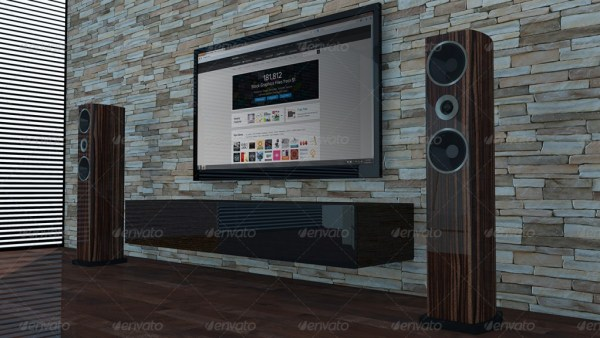 Living Room TV Mockup