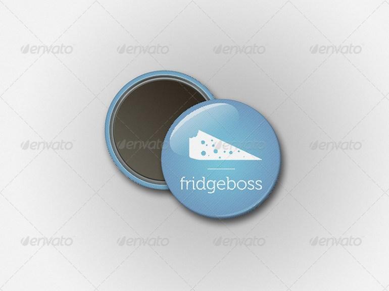 Magnet Button Badge Mockup