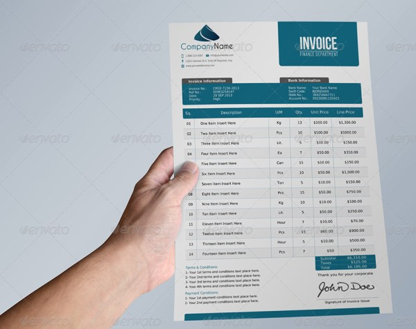 Offer and Packing and Invoice Template Vol.1
