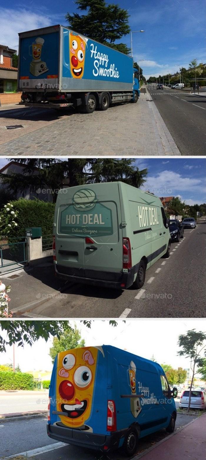 Realistic Truck Design Mockups