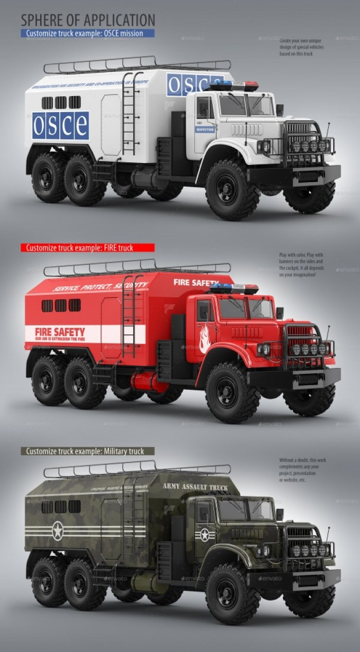 Special Military Truck Mockup
