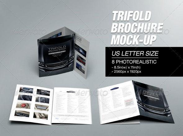 Tri-fold Brochure Mockup 02