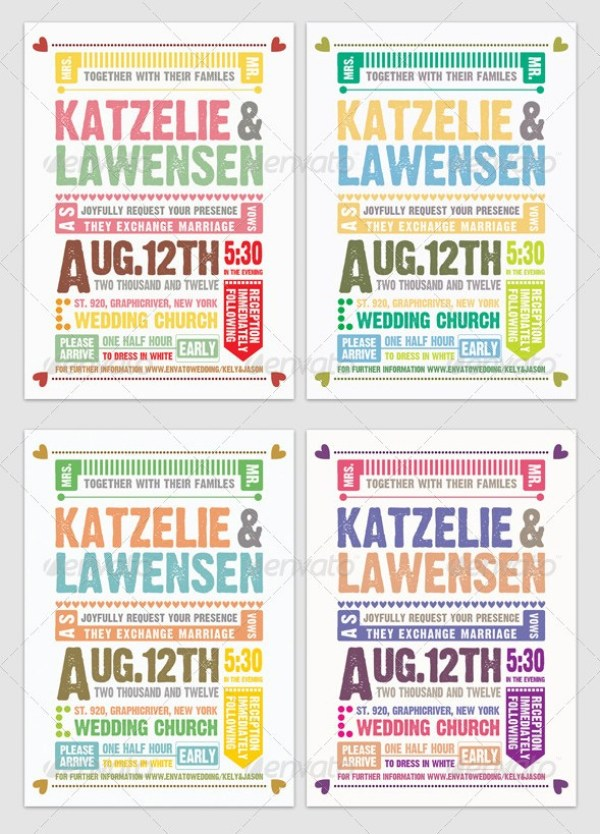 Wedding Invitation Typography