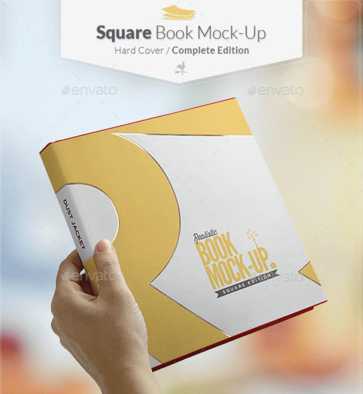 Square Book Mockup - Dust Jacket Complete Edition