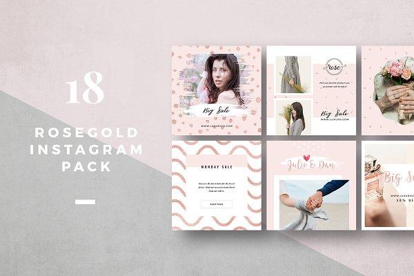 Rosegold Instagram Pack