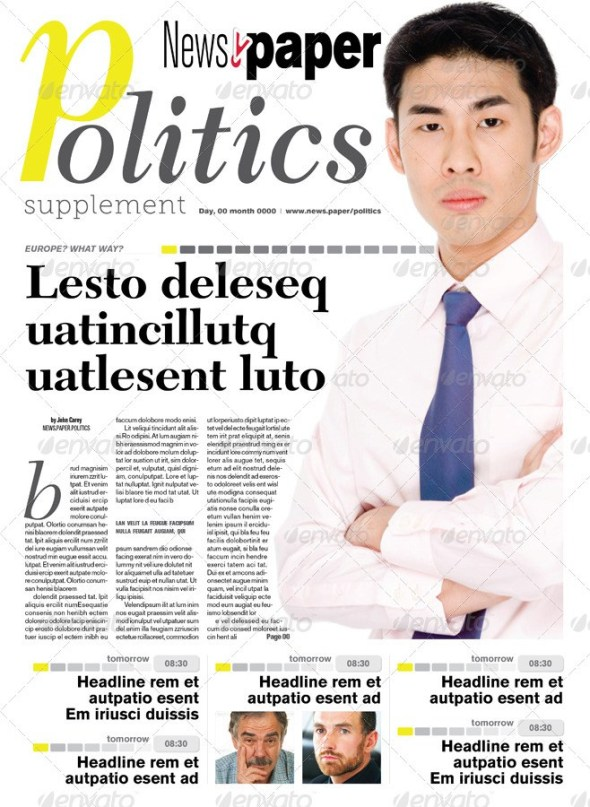 16 Pages Politics Supplement For NewsPaper