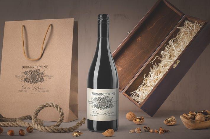 Wine Bottle Mockups Vol. 4